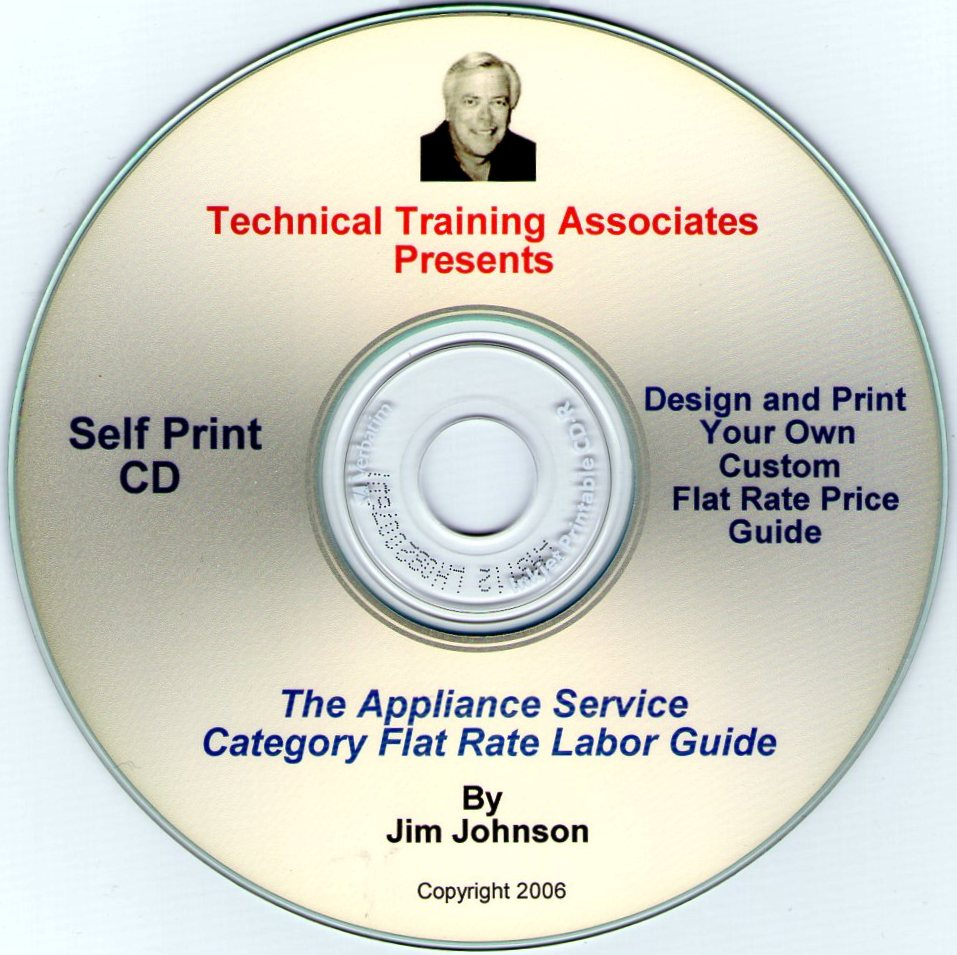 Appliance Category Flat Rate Guide CD
