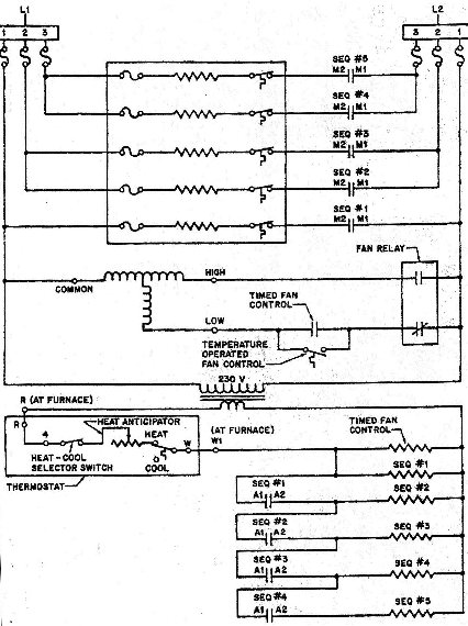 Electric Furnace Schematic Wiring Diagram1 trane weathertron thermostat wiring diagram efcaviation com Coleman Furnace Wiring Diagram at soozxer.org